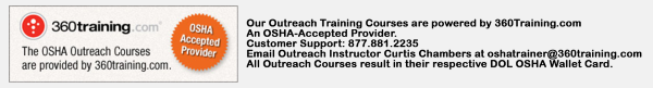 osha online training notice